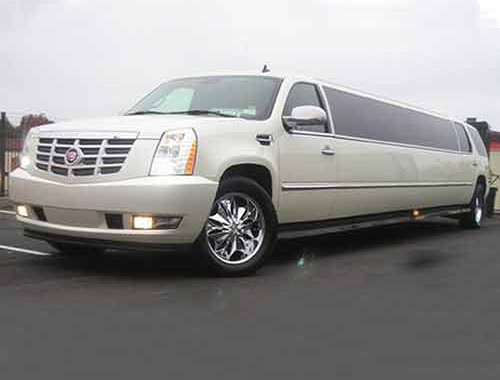 caddilac 20 pass white limo dia